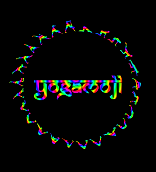 circular LOGO rainbow 3 downdog